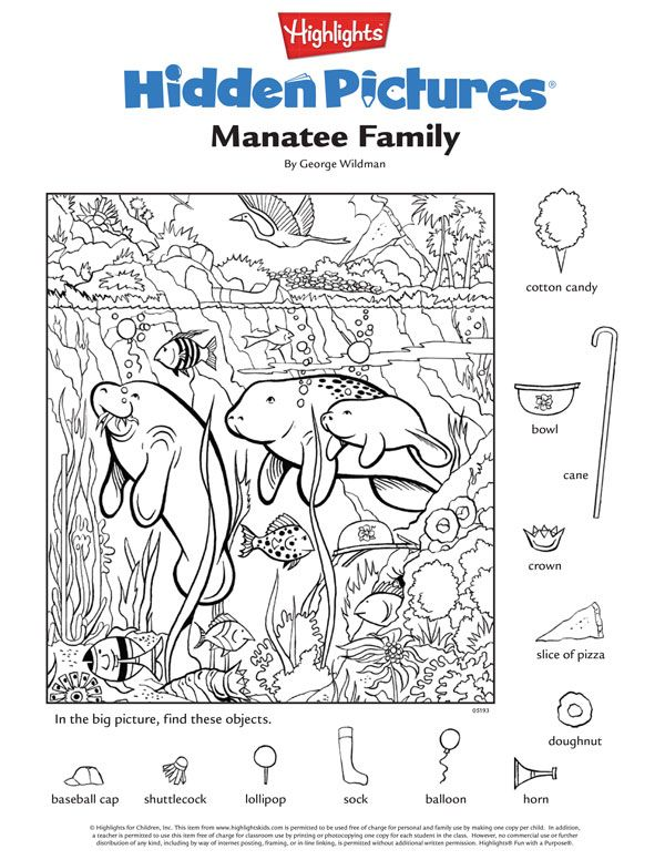 Highlights Hidden Pictures Coloring Page For Kids Highlights
