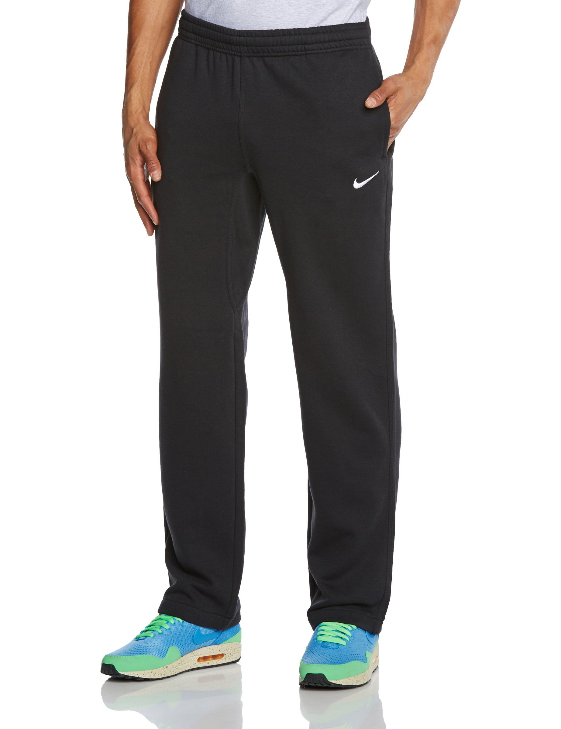 73981ab19e3408 Nike Club Swoosh Mens Fleece Sweatpants Pants Classic Fit Medium Black White     To view further for this item