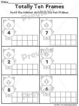 Ten Frames and Tally Marks: Math Mini Unit (Numbers 1-20