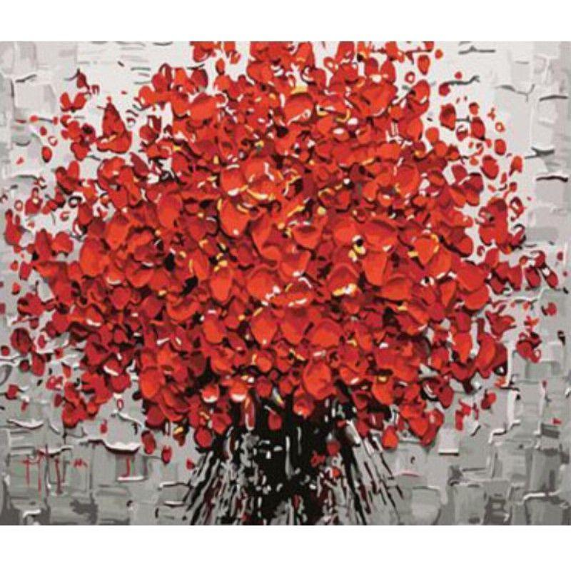 Los números de kit de la pintura al óleo de DIY sin marco flor foto ...
