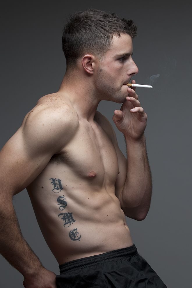 Sexy male smoking fetish