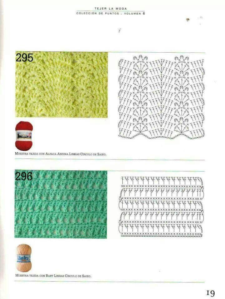 Stitch pattern | Crochet 2 | Pinterest | Patrones