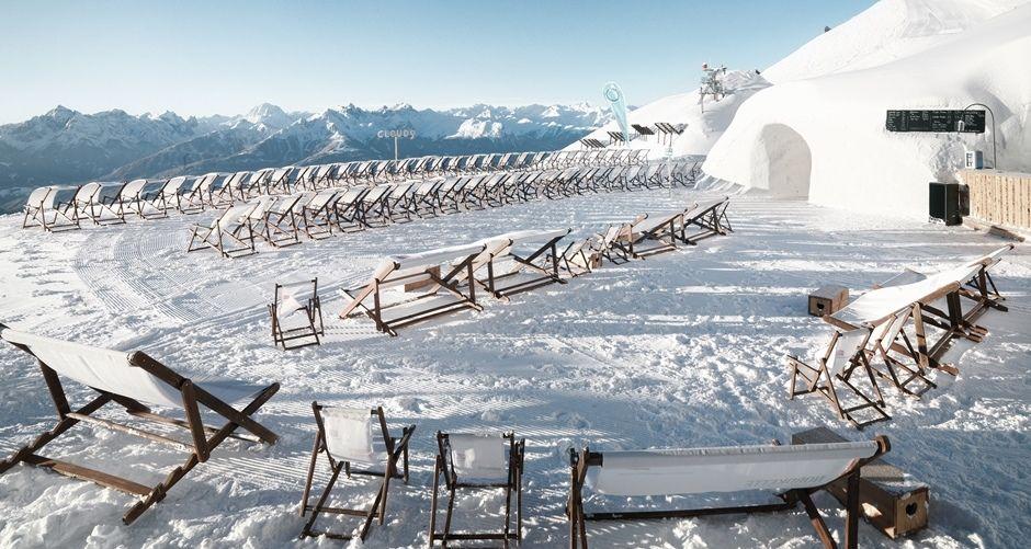Skylinepark Innsbruck Cloud9 Iglu Bar Mountain Innsbruck