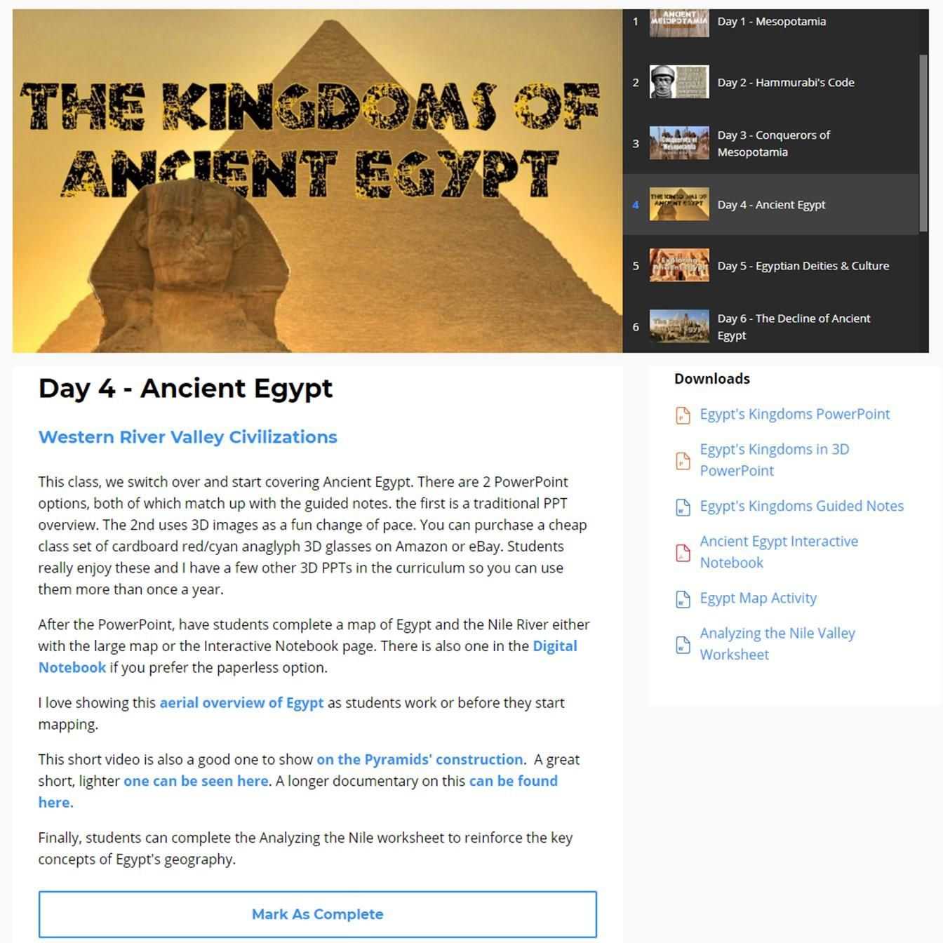 Amazing Lesson Plans And Activities For World History
