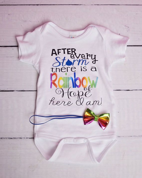 633c0d8bfc9a9 Rainbow Baby Bodysuit, After Every Storm Bodysuit, Girls Rainbow ...