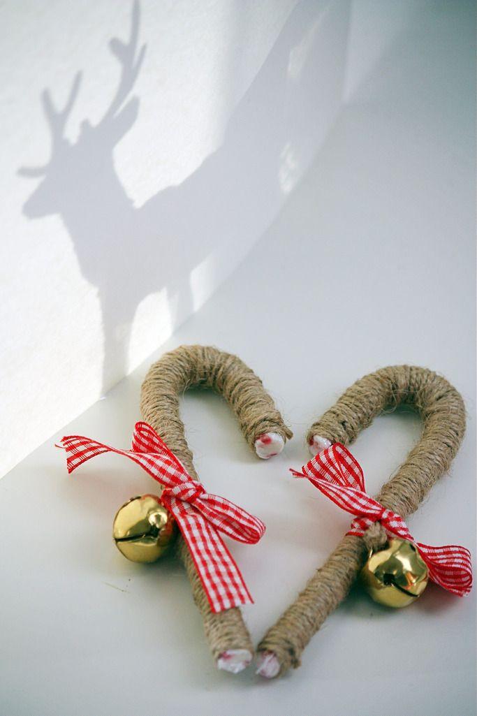 Candy Cane Ornament / Joulukoriste karkkikepistä