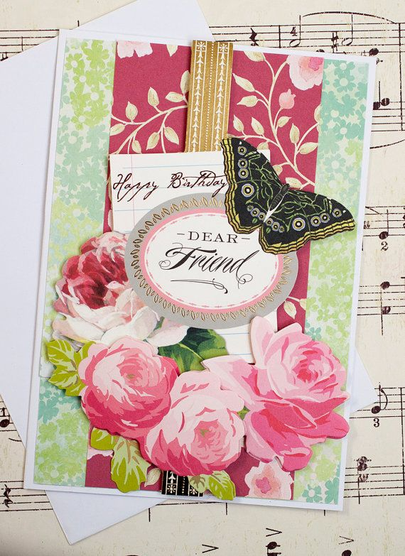 Handmade greeting card 3d birthday card feminine birthday old lady handmade greeting card 3d birthday card feminine birthday m4hsunfo