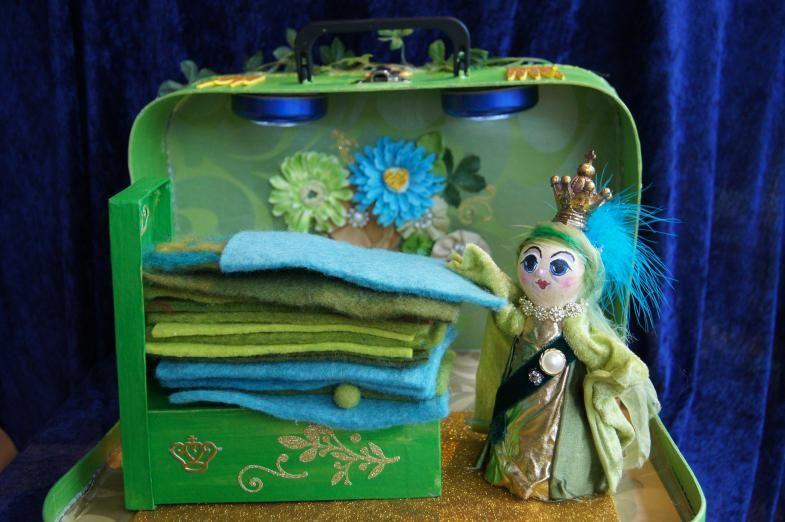 spelkoffertje van de prinses op de erwt van fantasifantasten.no