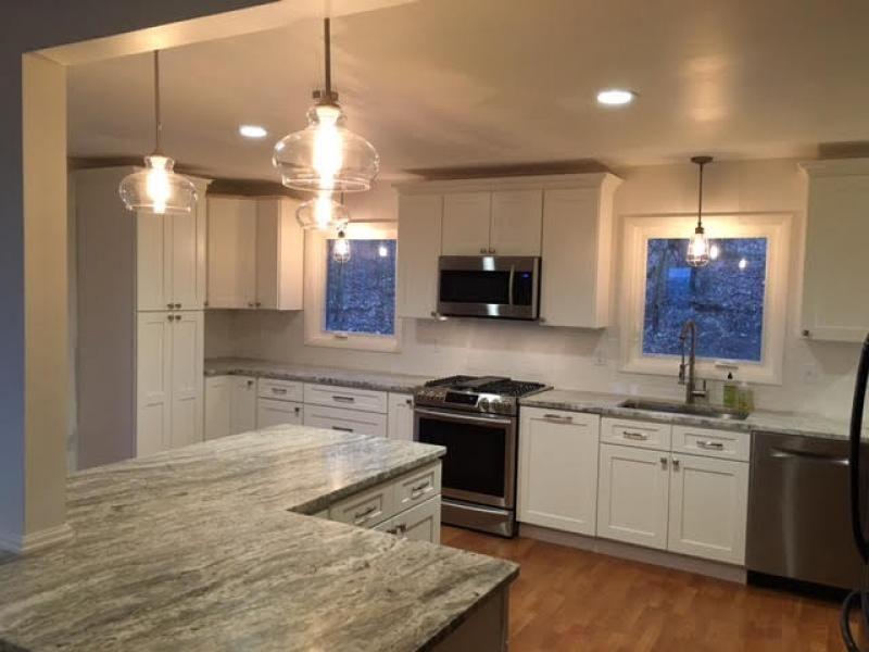Elegant White Shaker Kitchen Cabinets Pine Bend Kitchen White