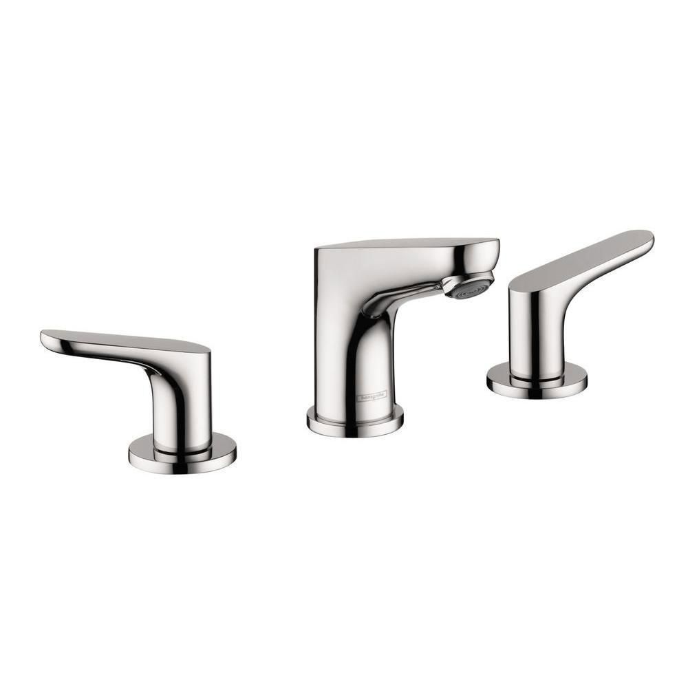 HansGrohe Focus 100 8 Inch Widespread 2 Handle Bathroom Faucet In Chrome  575395