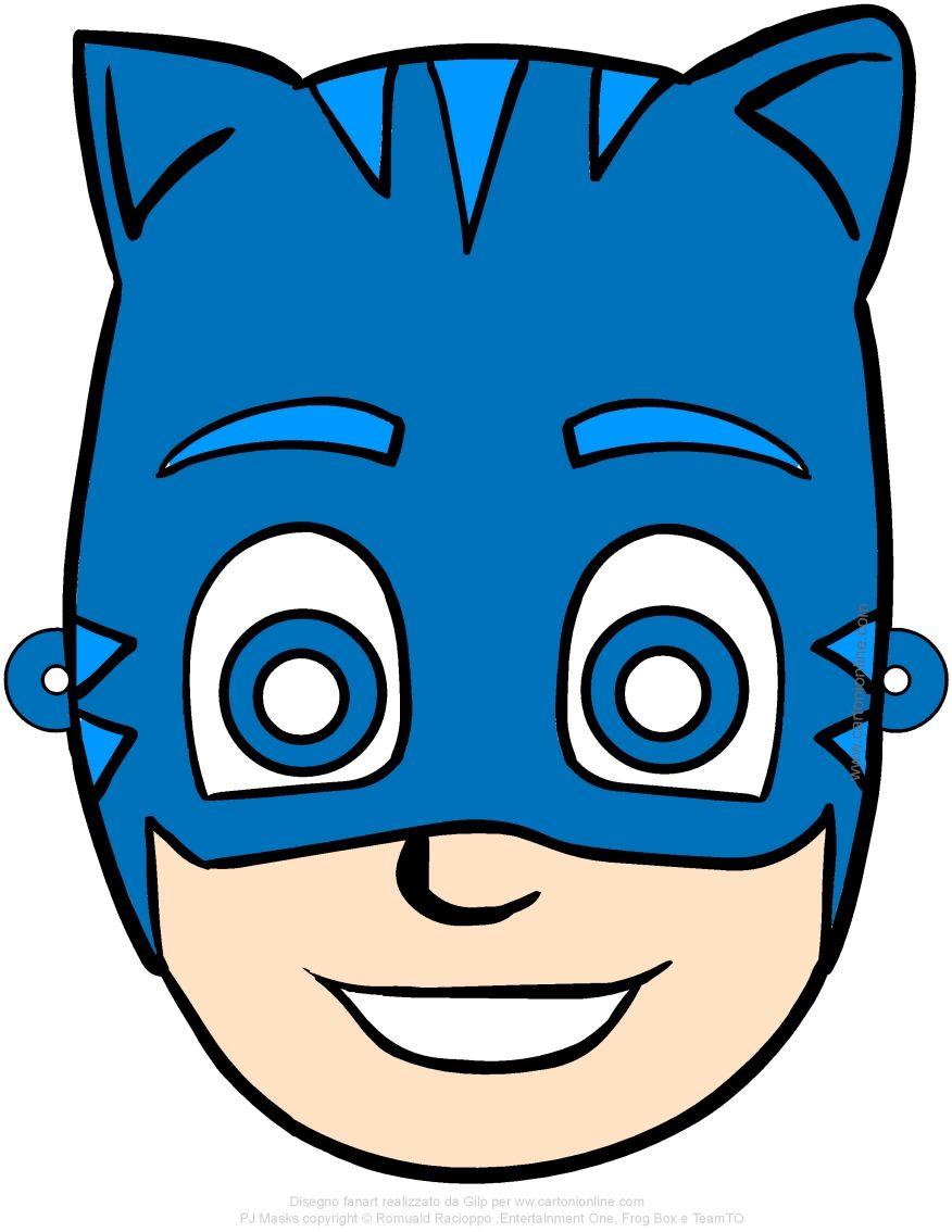 Maschera Di Gattoboy Pj Masks I Super Pigiamini Da Ritagliare