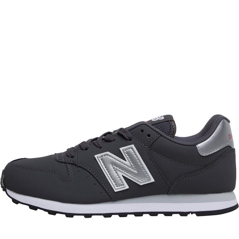 New Balance 500 WomensTrainers Dark grey/silver #NewBalance ...