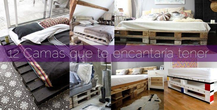 12 camas hechas con palets home Pinterest Camas hechas con - camas con tarimas