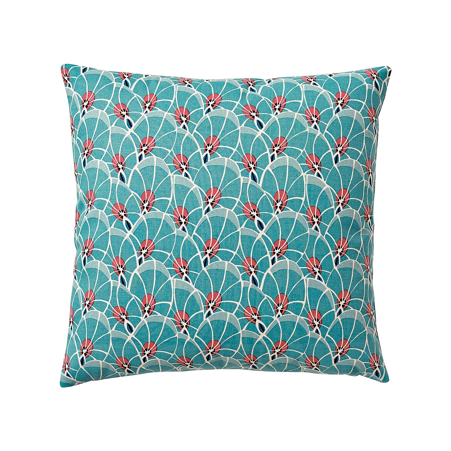 Palm leaf pillow cover u teal serena u lily products pillow