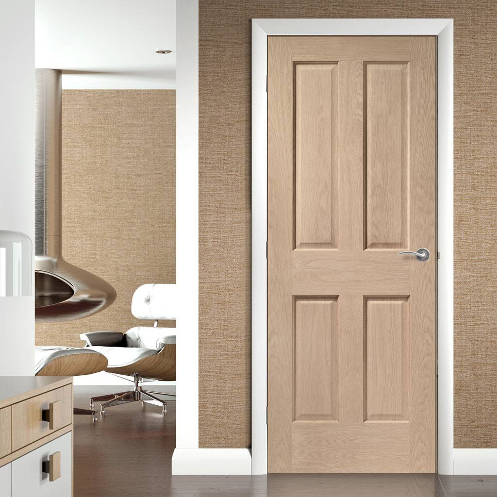 Bespoke Victorian Oak Fire Door No Raised Mouldings 1 2 Hour Fire Rated Prefinished Deuren Interieur Deurbeslag Badkamer Deuren