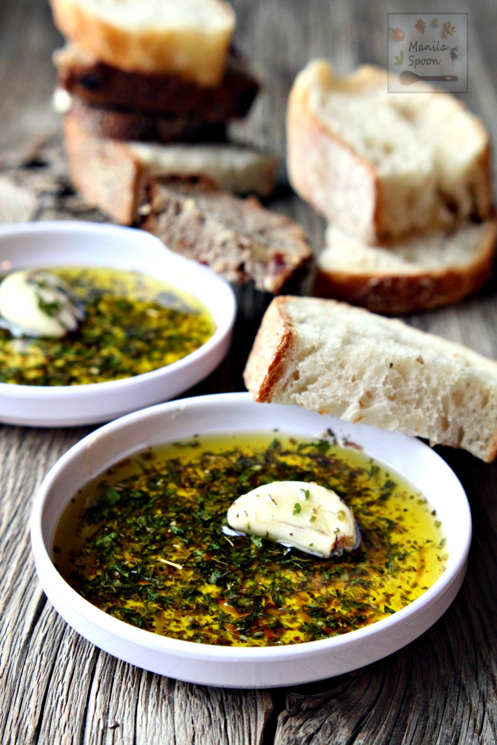 Photo of Italian Bread Dipping (Oil) Sauce – Manila Spoon