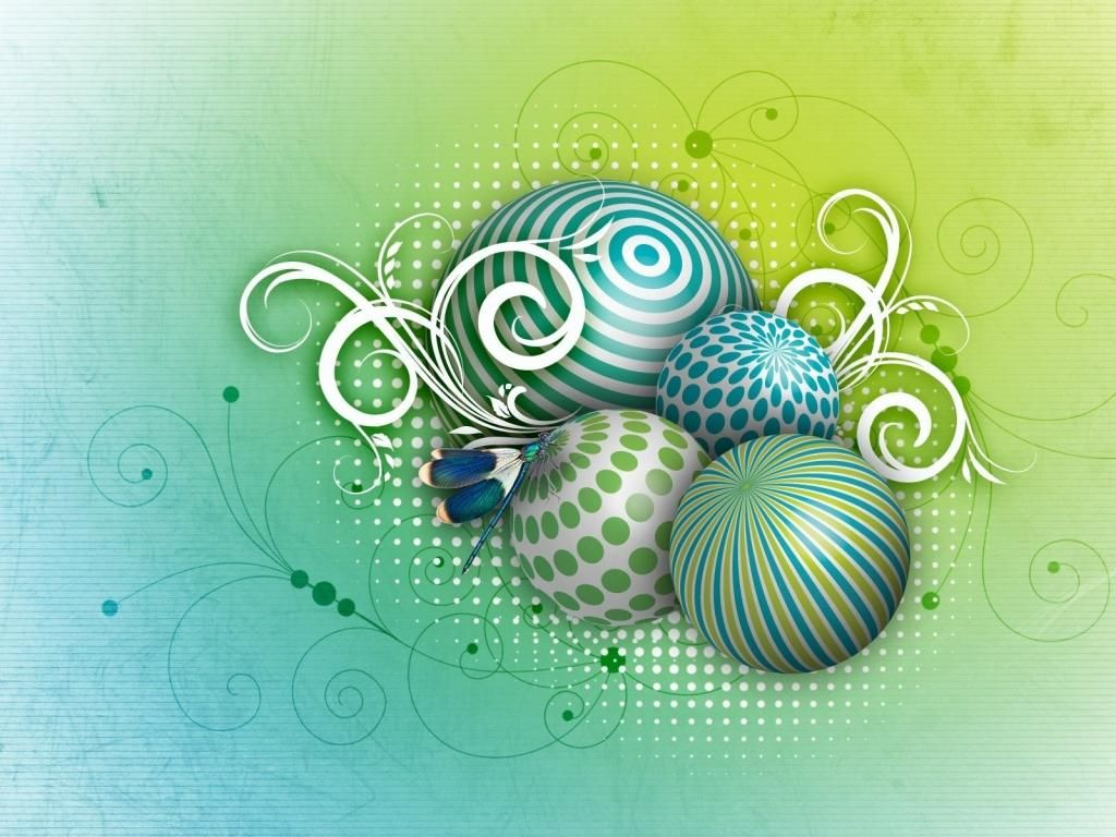 Balloons Shapes Light Ornaments PowerPoint Background