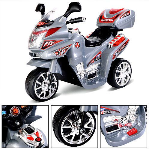 Kids Ride On Motorcycle 6V Battery Operated 3 Wheels ...