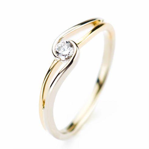Inel unicat din aur cu diamante P920