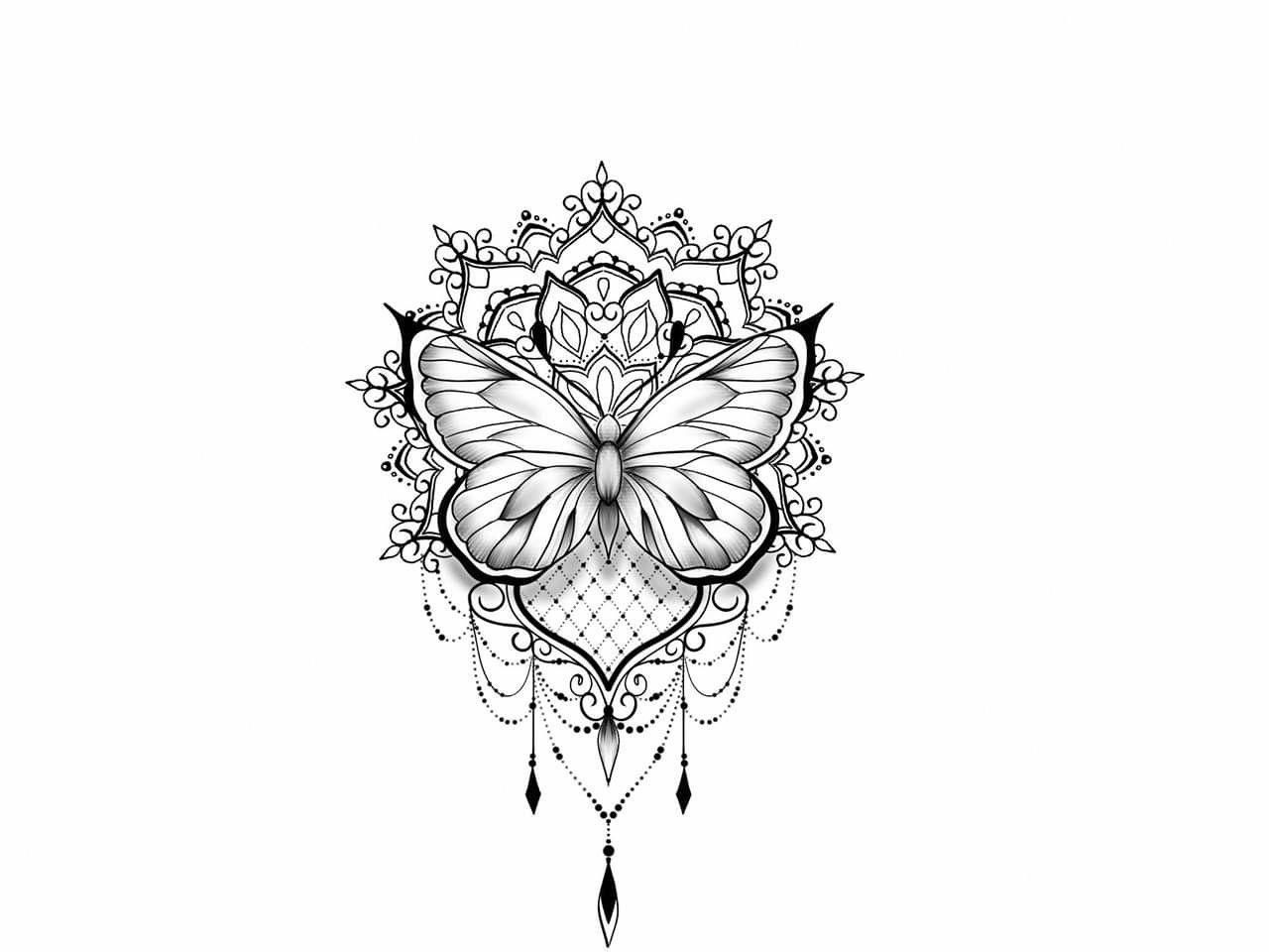 Photo of dotwork tattoo mandala #Mandalatattoo