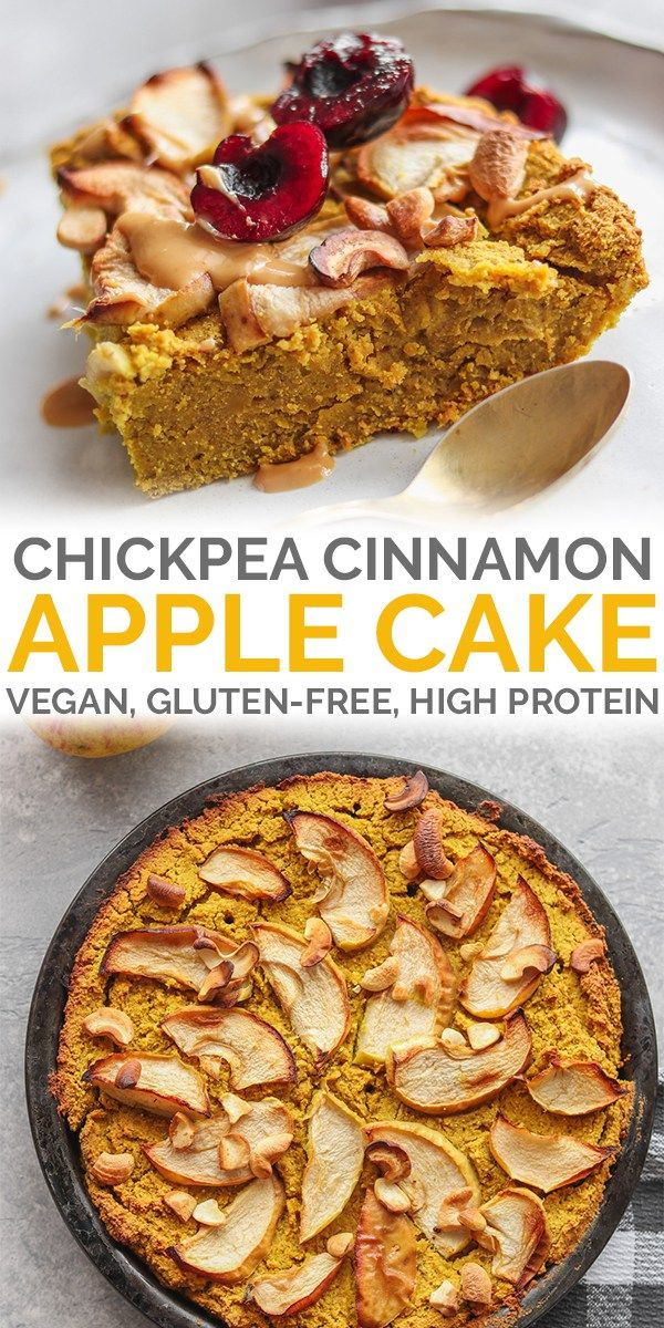 Cinnamon Chickpea Vegan Apple Cake Gluten Free