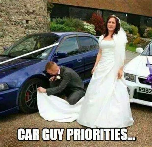 Guy dating his car