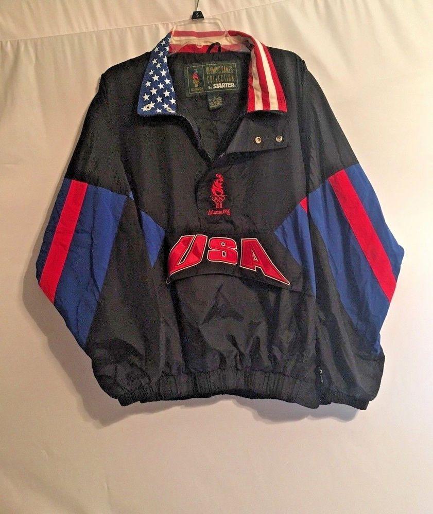 b91796fe79a27 Vintage 90s 1996 Atlanta Olympics Zip-Up Windbreaker Starter Jacket ...