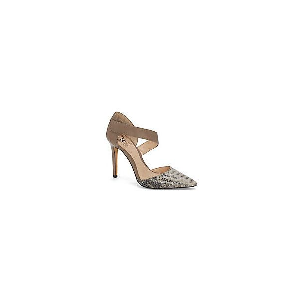 Vince Camuto Carlotte2- Asymmetrical Strap Dorsay Point Toe Pump featuring polyvore, fashion, shoes, pumps, strap pumps, pointed-toe pumps, dorsay shoes, dorsay pump and pointy toe shoes