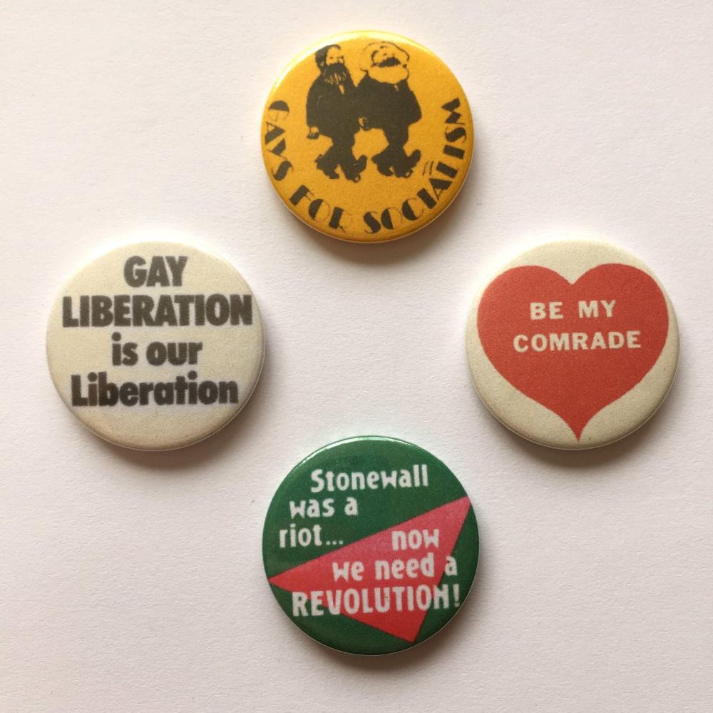 A Lesbian Gay Woman Vintage 4 X Fridge Magnets