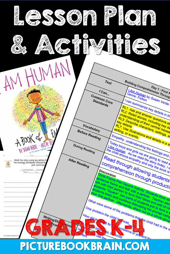 I Am Human by Susan Verde Lesson Plan and Activities