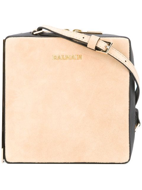 Suede shoulder bag Balmain tJvxbH