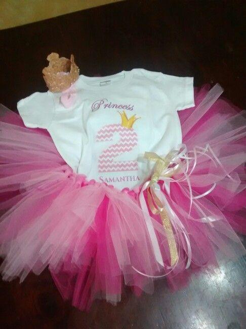 c678c1abd Tutu para Fiesta #pinkandgold 2 años   tutus y camisetas de ...