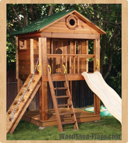 Kids playhouse woodworking plans stilt treehouse for Kids playhouse ideas