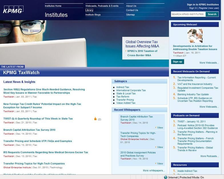 Kpmg Intranet With Images Webcast Podcasts Development