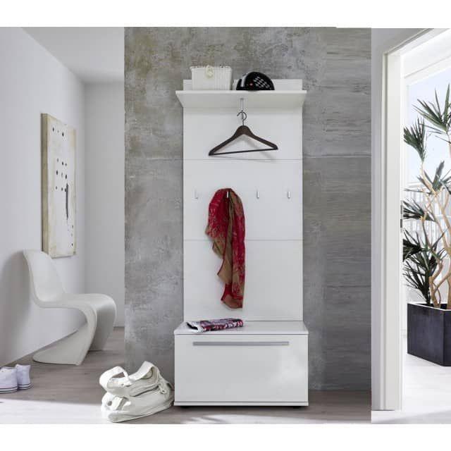 garderobe flurm bel set modul 2 teilig wei glanz 70 x 183. Black Bedroom Furniture Sets. Home Design Ideas