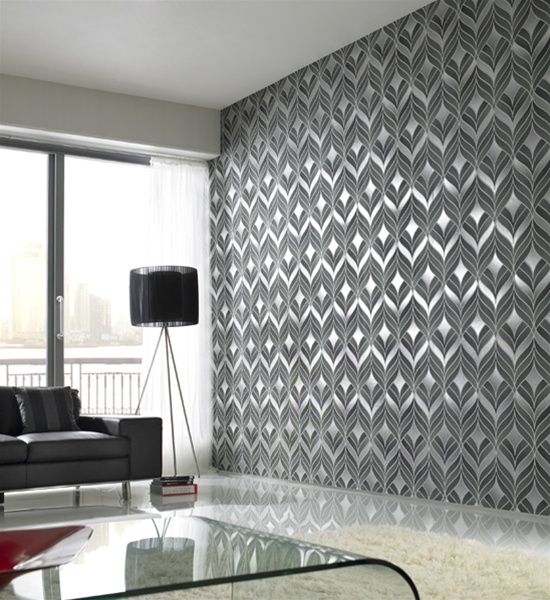 Nice textured wallpaper for a more, contemporary formal foyer ...