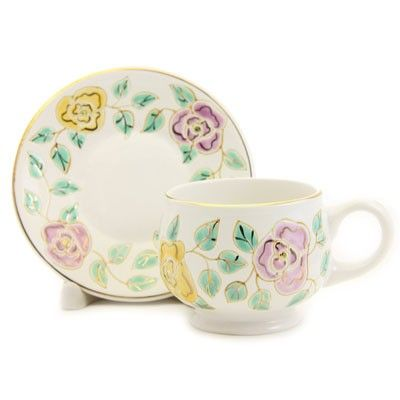The Flower Collection Handmade Ceramic Cup and Saucer Set, $18.00, Catalog of St. Elisabeth Convent. http://catalog.obitel-minsk.com/gifts/ceramics.html #CatalogOfGoodDeed #handmade #ceramic #pottery #dishes #tea #sweethome #art #inspiration #gift #present #buy #order #online #handpainted