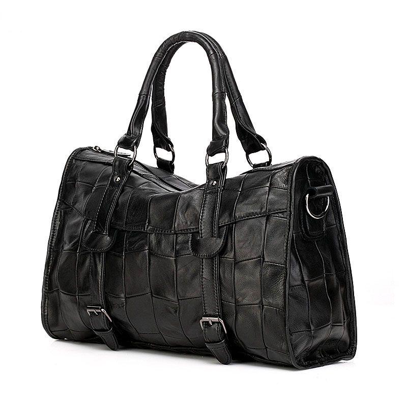 fe661b8220b Bolsos de piel suave negro de marca bolso de grandes moda cuero para mujeres   VL10475  - €58.92   bzbolsos.com