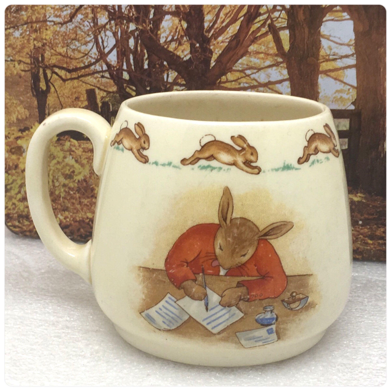 Bunnykins mug by royal doulton with barbara vernon