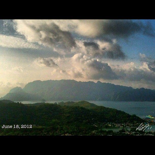 眠る巨人 #sleeping #giant view from the #top of the #mountain #patyas #coron #island #philippines #フィリピン #リゾート