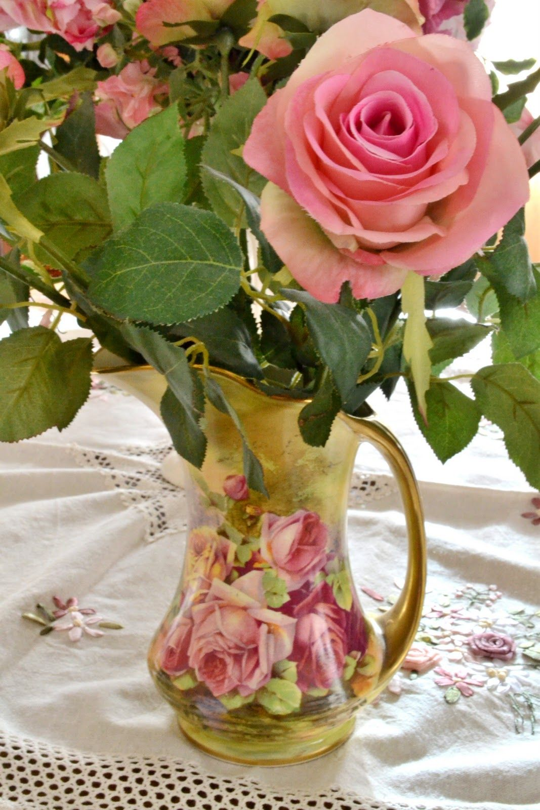 Gorgeous pitcher with lovely rose beautiful objects ideas gorgeous pitcher with lovely rose izmirmasajfo