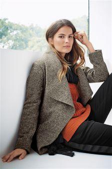 Grey Tweed Waterfall Coat | Mother's Day 2016 | Pinterest | Coats ...