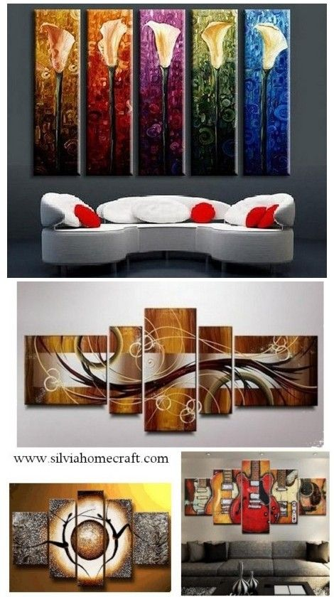 Abstract art calla lily painting flower canvas piece wall acrylic ready to hang also african girl rh pinterest