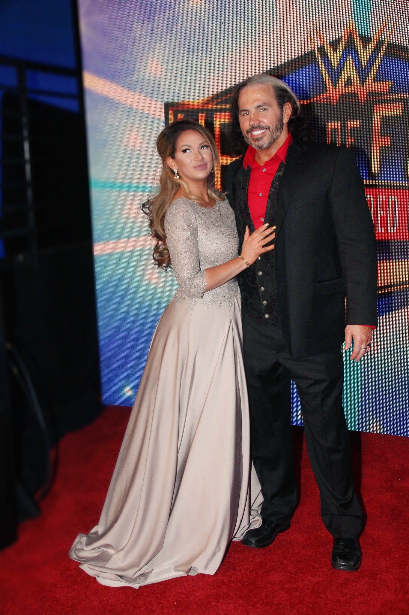 f76902c805f6a WWE Superstar Matt Hardy and his wife Rebecca Reyes Hardy at the 2018 WWE  Hall