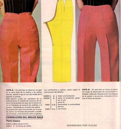 corrección de Tiro de un Pantalón de Dama