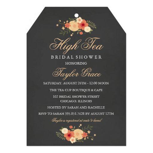 Tea bag high tea bridal shower invitation tea bridal showers high tea bag high tea bridal shower invitation stopboris Image collections
