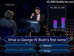 Breaking News!! George Bush's first name is really Edmund.