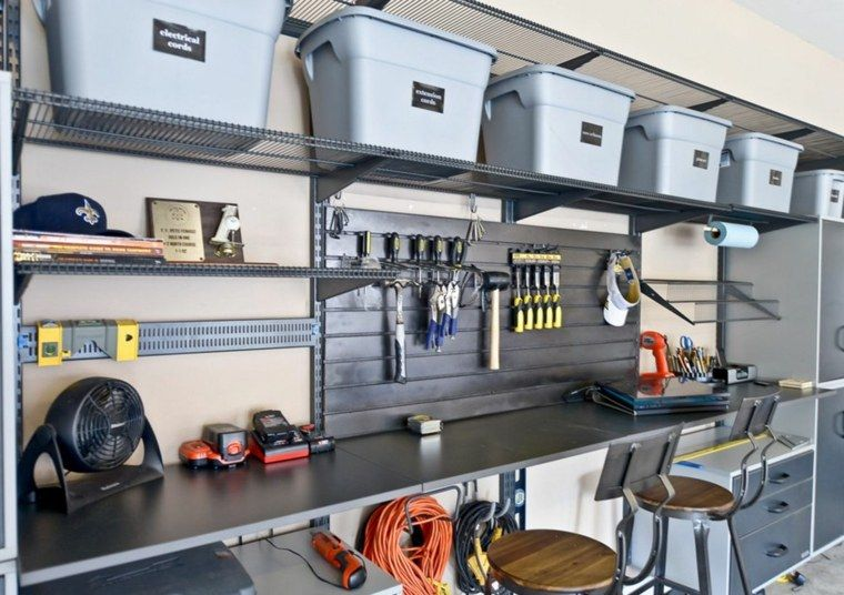 Des id es pratiques pour votre rangement garage rangement de garage id es - Idee amenagement garage ...