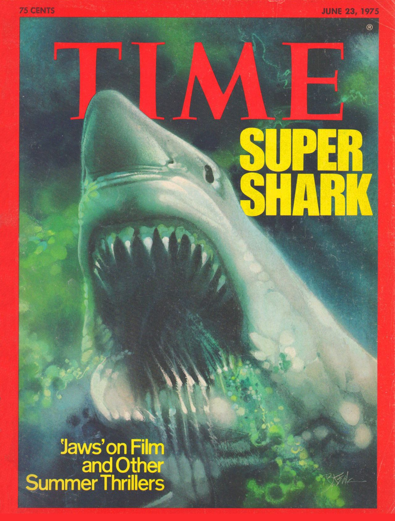 Time magazine, June 23, 1975 — Jaws | I Survived The 70s | Pinterest | Time magazine, Childhood ...