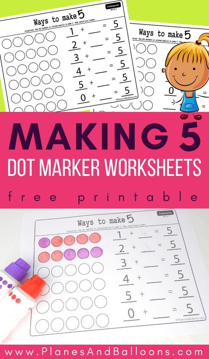 Making 5 Math Worksheets Kindergarten Math Activities Common Core Math Kindergarten Math Worksheets